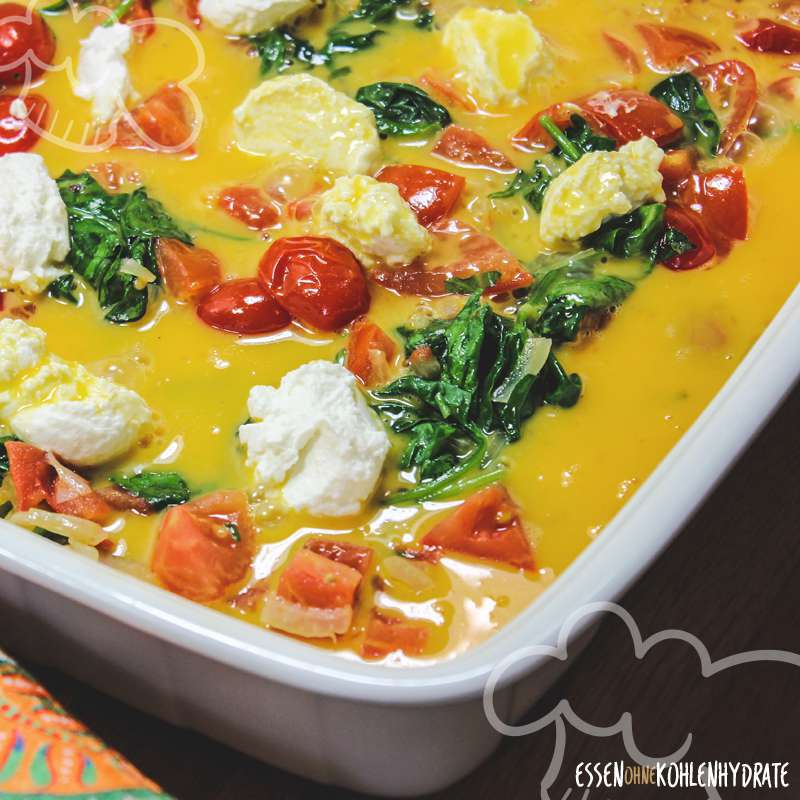 Frittata mit Tomaten und Spinat