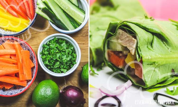 zum Rezept Salatrollen mit Pute