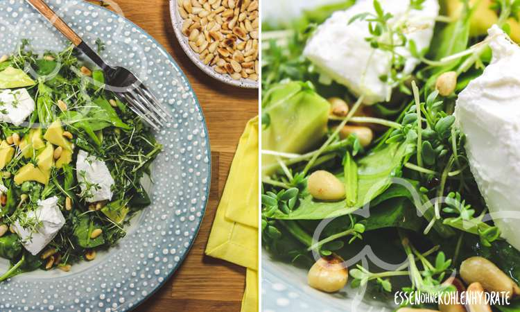 Babyspinat-Salat mit Avocado
