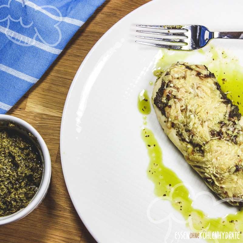 Pesto-Parmesan-Hähnchen