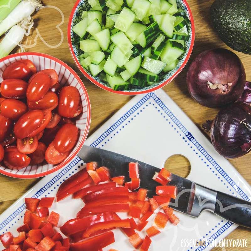 Salat-Tacos mit Hähnchen