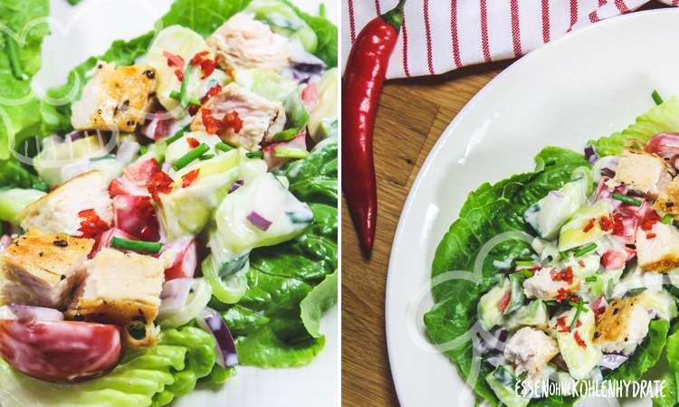 zum Rezept Salat-Tacos mit Hähnchen
