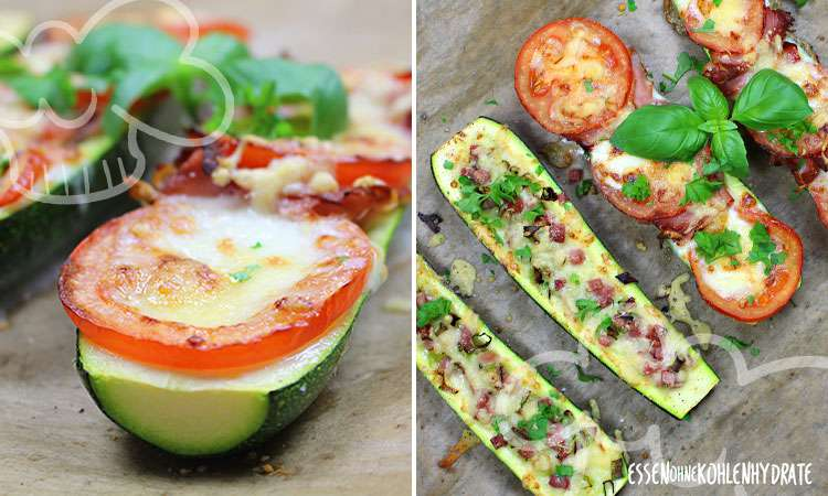 Zucchini Pizza Boats Low Carb Rezepte