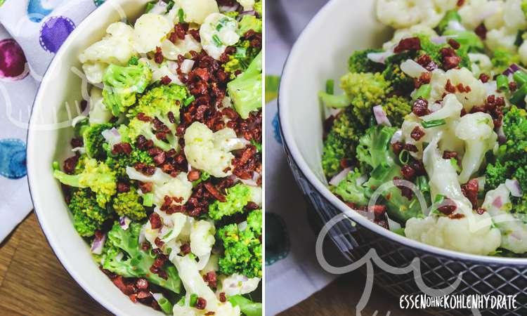 zum Rezept Brokkoli-Blumenkohl-Salat