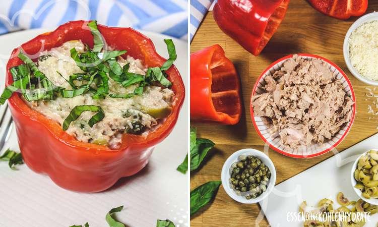 zum Rezept Gefüllte Paprika mit Thunfisch
