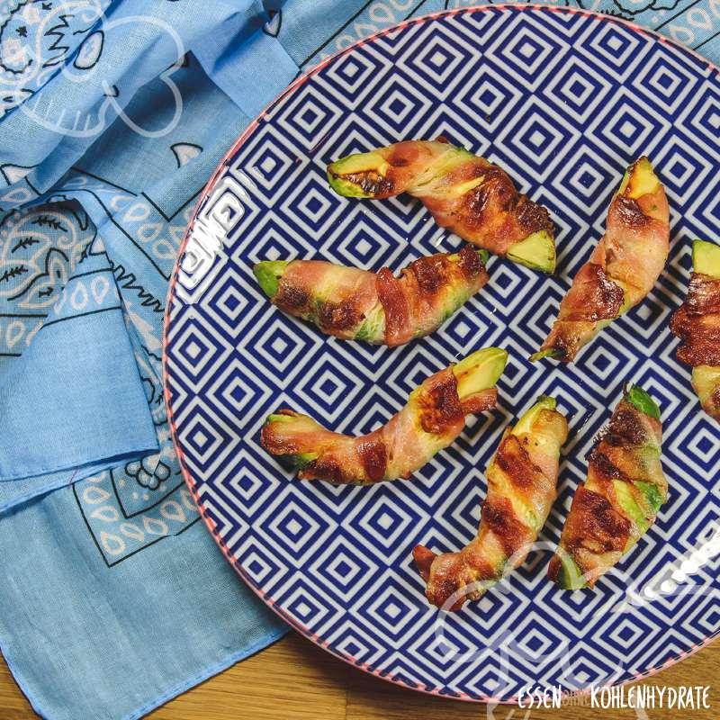 Avocado im Speckmantel