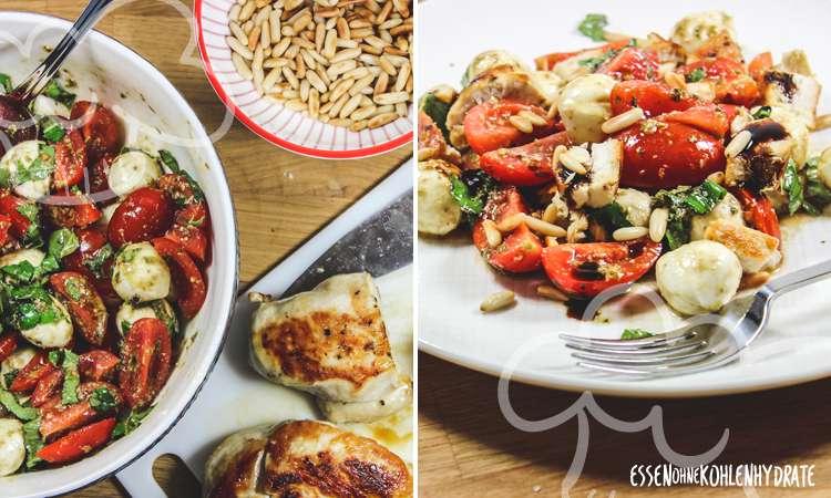 zum Rezept Hühnchen-Caprese-Salat