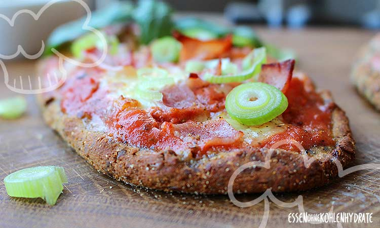 Low-Carb Pizza-Baguettes