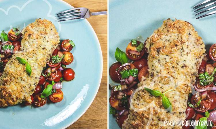 zum Rezept Parmesan-Schnitzel mit Tomatensalat