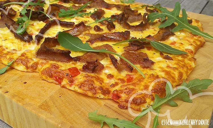 Schnelle Low-Carb Schüttelpizza