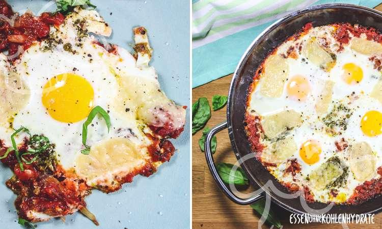 zum Rezept Eier und Tomaten aus dem Ofen