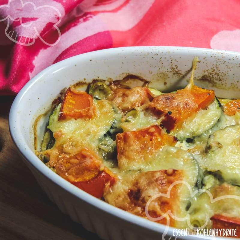 Zucchini-Kürbis-Auflauf