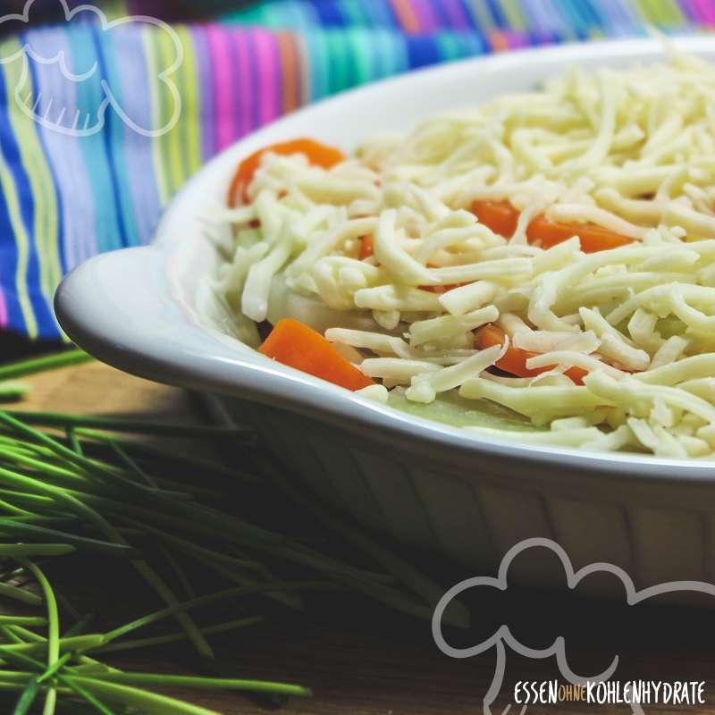 Kohlrabi-Karotten-Gratin