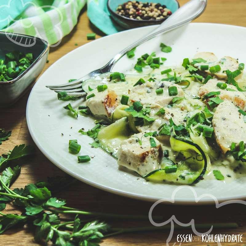 Zucchini-Hähnchen-Pfanne