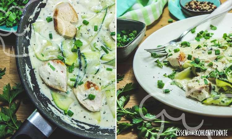 zum Rezept Zucchini-Hähnchen-Pfanne