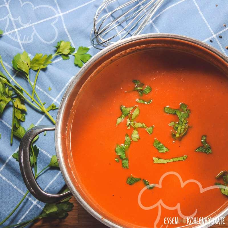 Schnelle Tomatensuppe