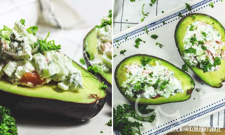 zum Rezept Gefüllte Avocado mit Lachs