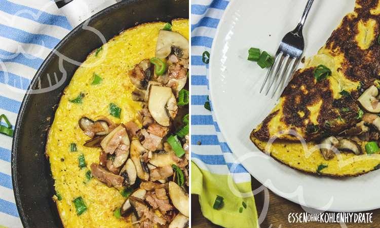 zum Rezept Omelette mit Champignons