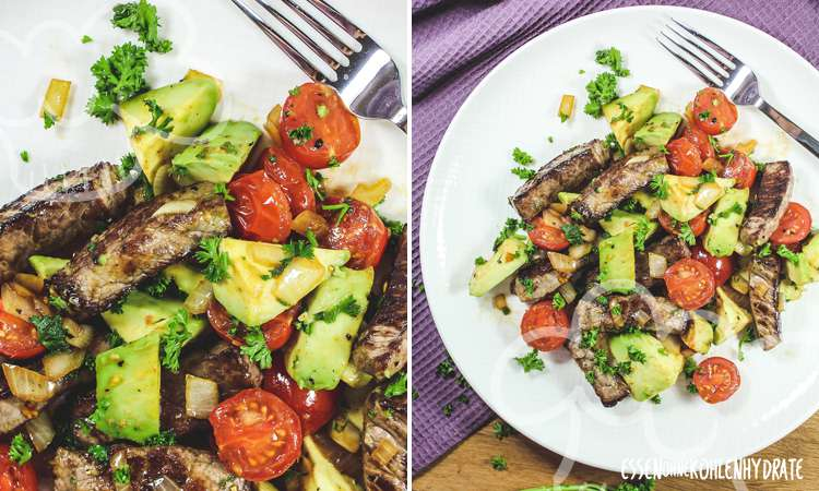 zum Rezept Avocado-Steak-Pfanne