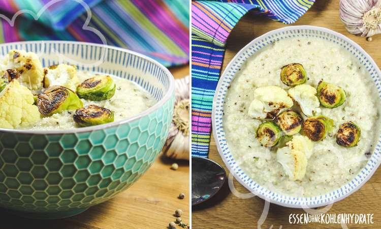 zum Rezept Blumenkohlsuppe mit Rosenkohl
