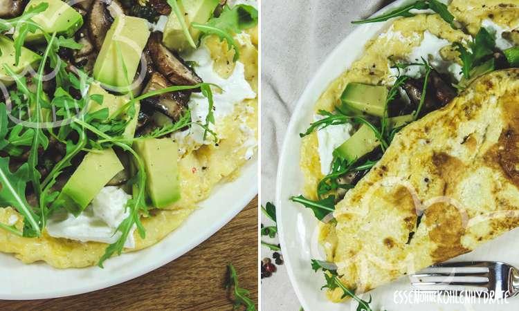 zum Rezept Champignon-Avocado-Omelette