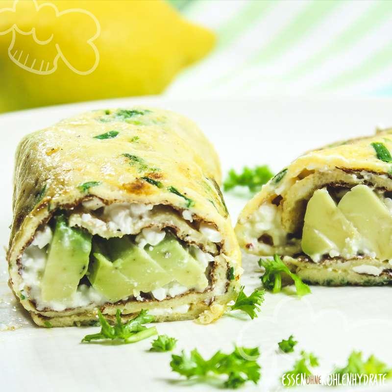 Kräuter-Avocado-Wrap