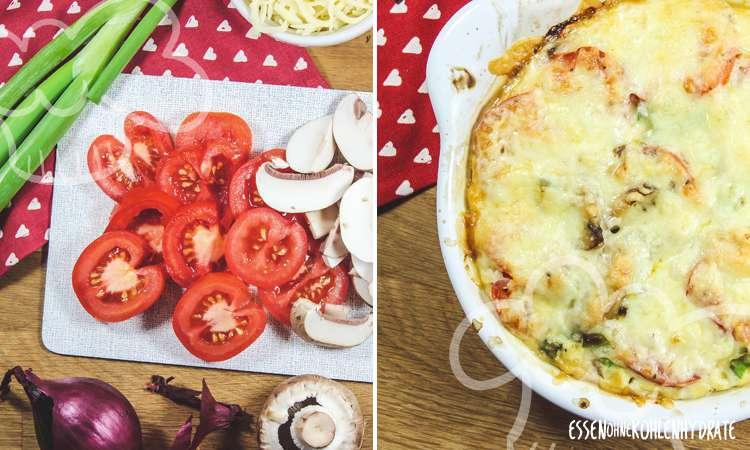 Tomaten-Champignon-Gratin