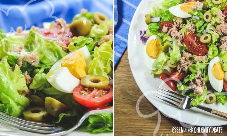 zum Rezept Salat mit Thunfisch und Ei