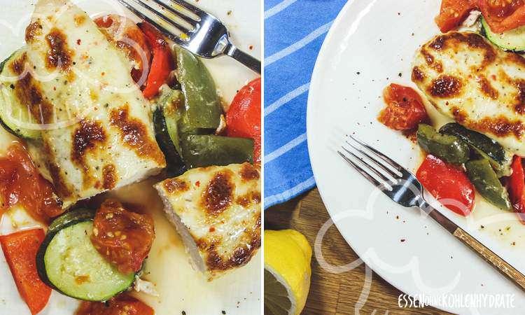 zum Rezept Mozzarella-Hähnchen mit Gemüse