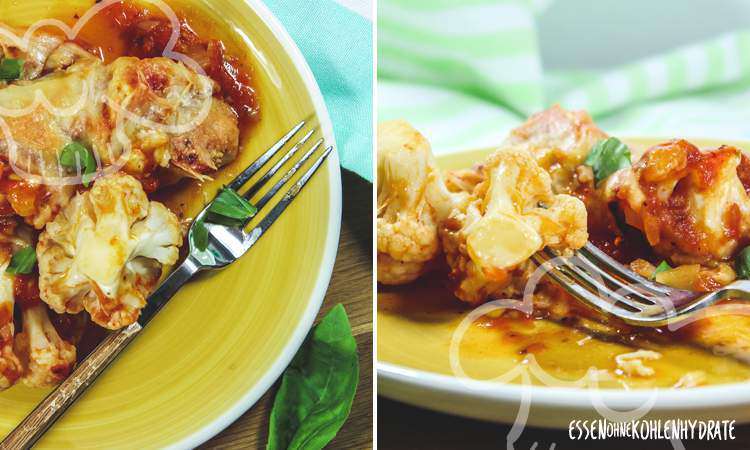 zum Rezept Blumenkohl mit Tomatensoße