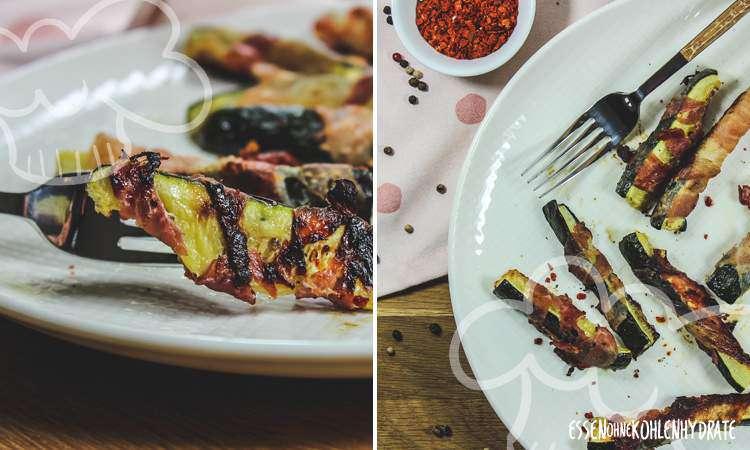 Ofen-Zucchini mit Bacon