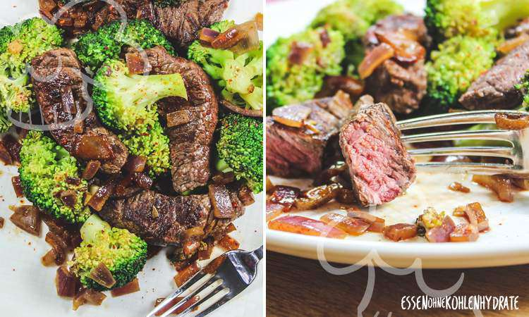 zum Rezept Steakpfanne mit Brokkoli