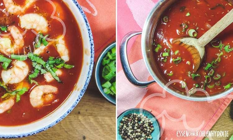 zum Rezept Tomatensuppe mit Garnelen