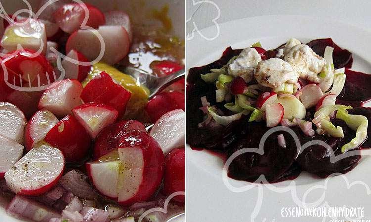 zum Rezept Rote Beete-Carpaccio mit Chicorée und Radieschen