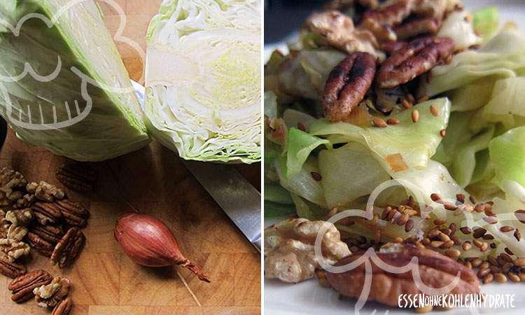 zum Rezept Spitzkohl-Salat mit Nüssen & Sesam