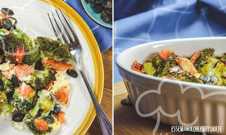 zum Rezept Brokkoli-Lachs-Gratin
