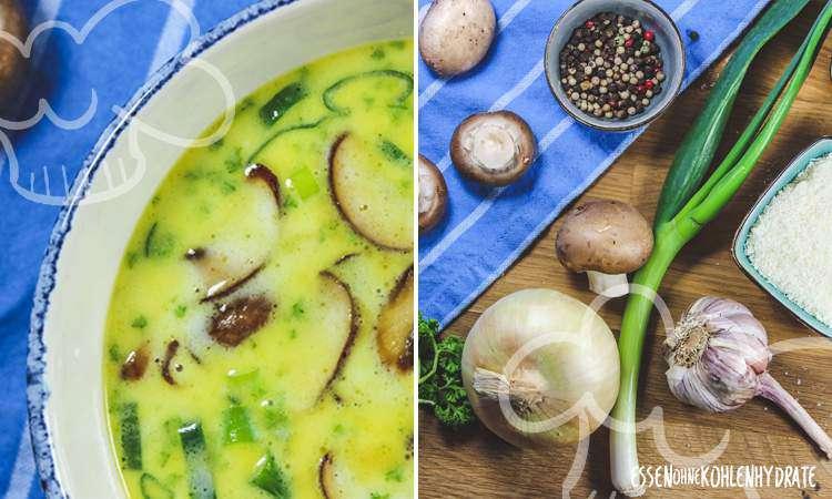 zum Rezept Käsesuppe mit Pilzen