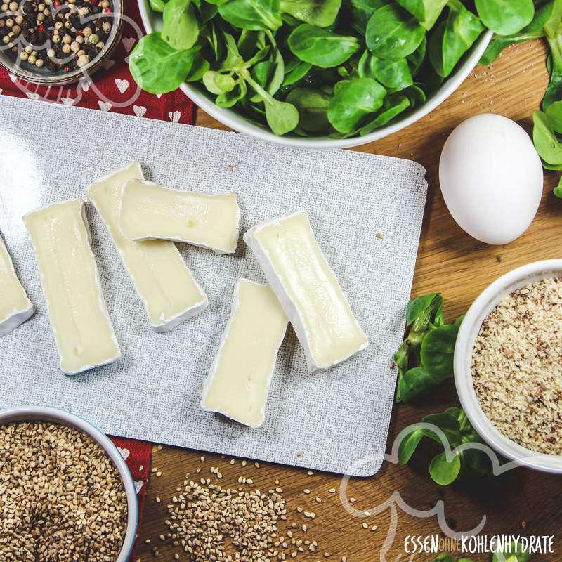Feldsalat mit Sesam-Käse-Ecken