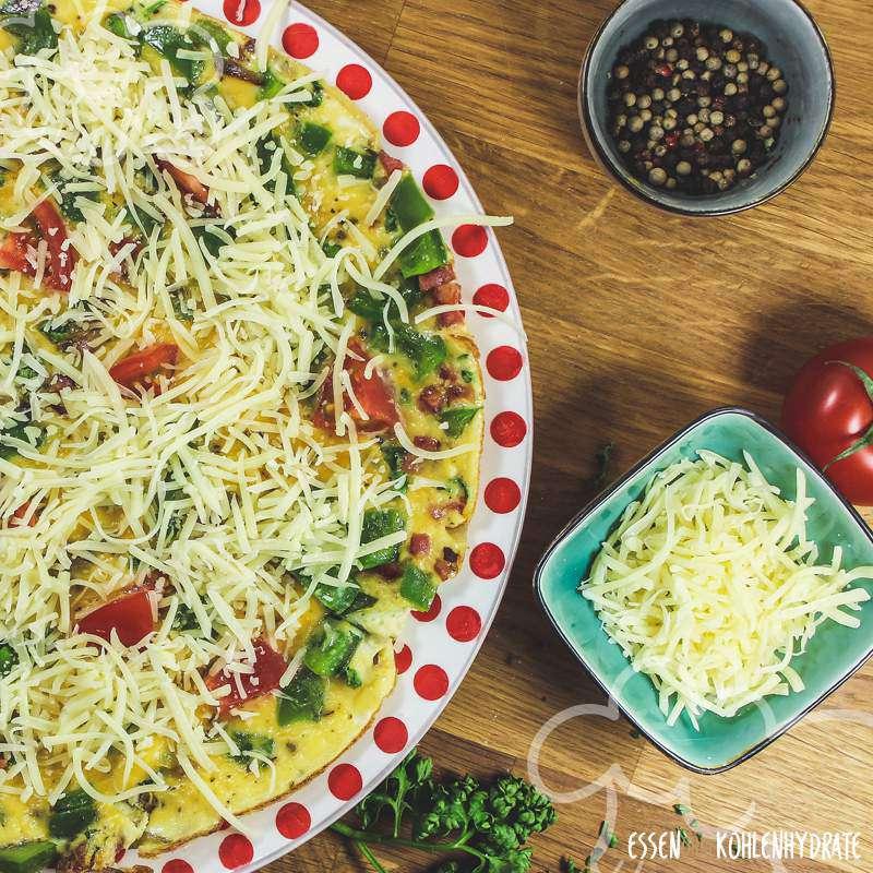 Überbackenes Omelette