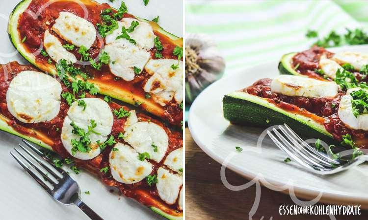 zum Rezept Gefüllte Zucchini mit Ziegenkäse