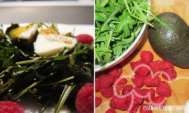 zum Rezept Ruccola-Salat mit Himbeeren