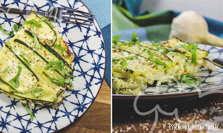 zum Rezept Zucchini-Artischocken-Tortilla