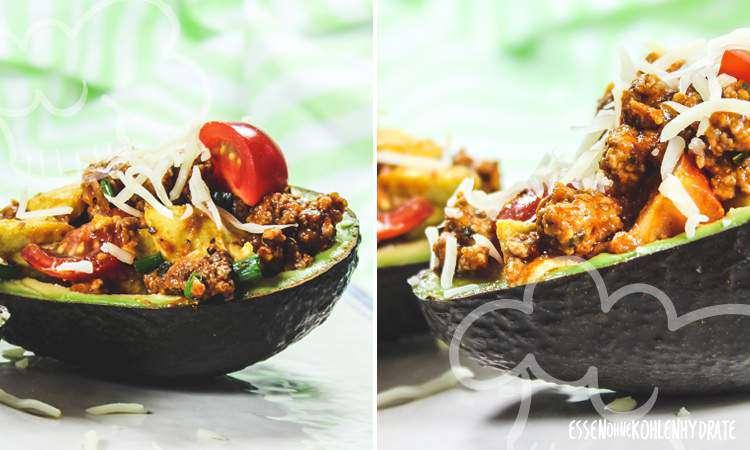 zum Rezept Gefüllte Avocado mit Hack
