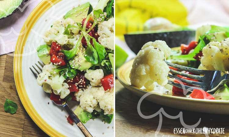 zum Rezept Feldsalat mit Blumenkohl