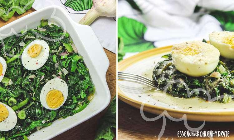 zum Rezept Spinatgratin mit Ei