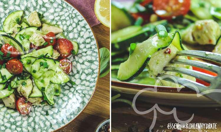 zum Rezept Zucchinisalat mit Hähnchen