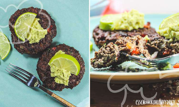 Brotloser Burger mit Avocado-Salsa