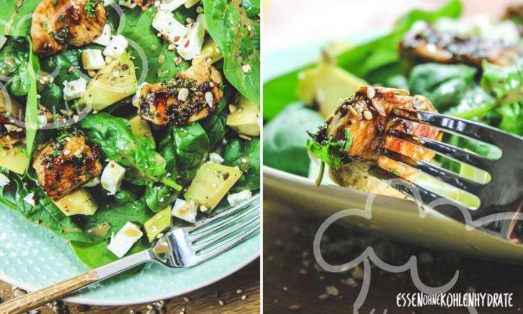 zum Rezept Spinatsalat mit Hähnchen