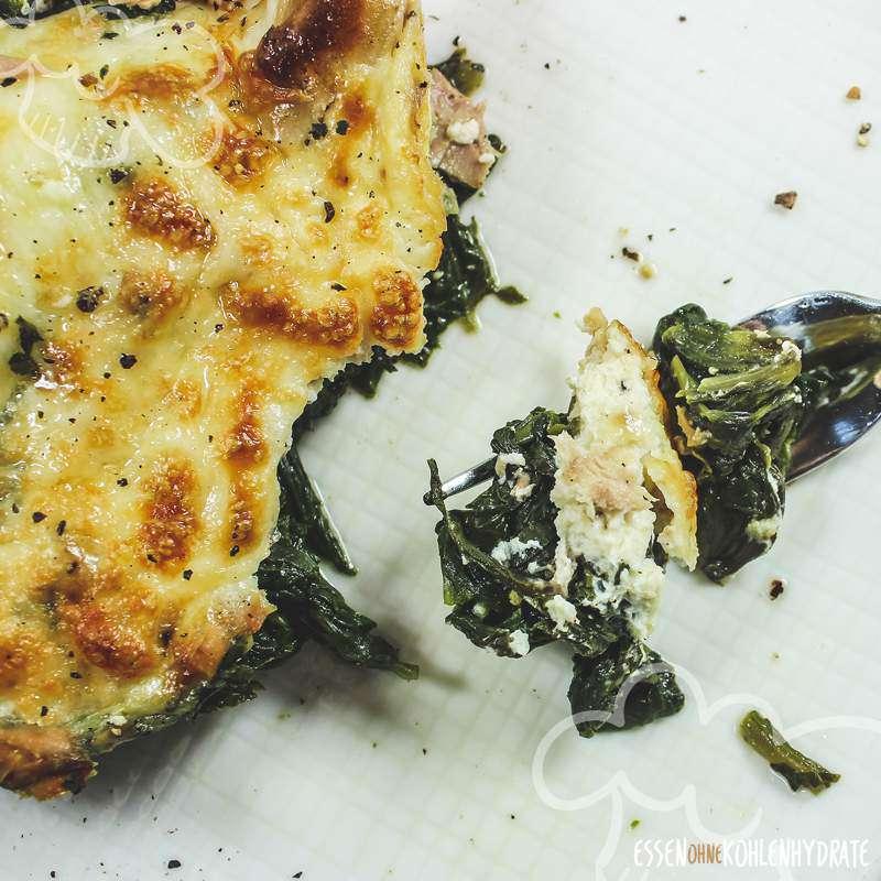 Thunfisch-Spinat-Auflauf