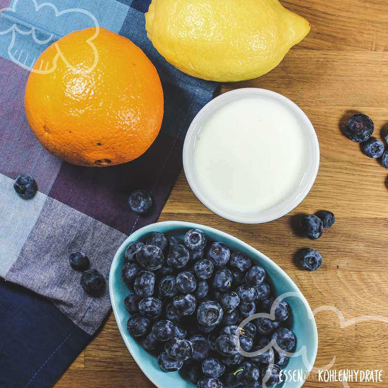 Blaubeer-Dessert